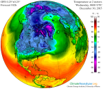 US GFS weather model predicted surface air temperature for 06:00z on 30 December 2015