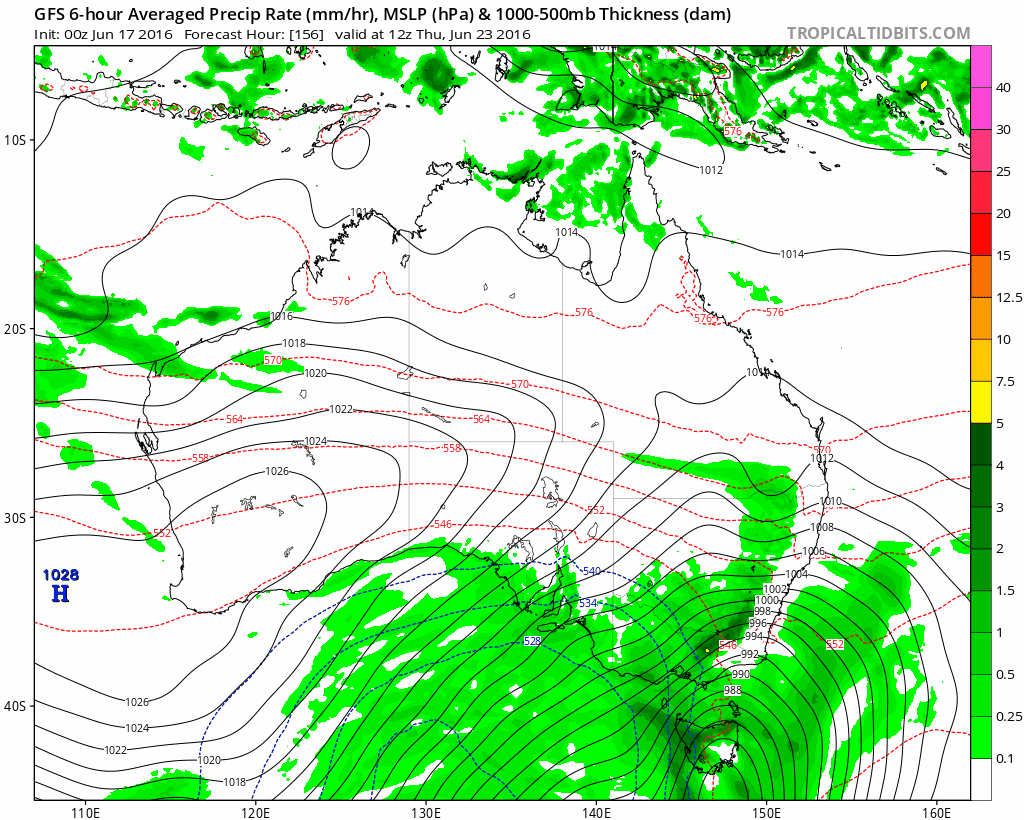 GFS for 23 June, from Levi Cowan