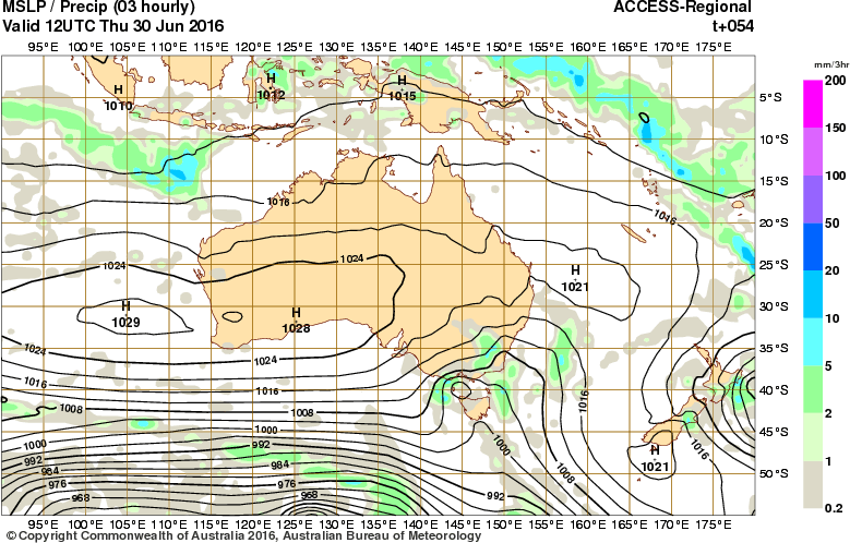 BOM ACCESS-R for Thursday night
