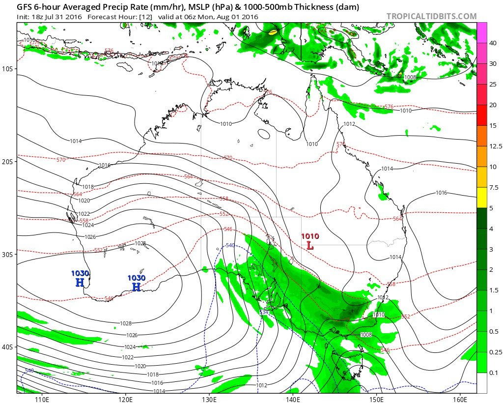GFS for Monday night, from Levl Cowan