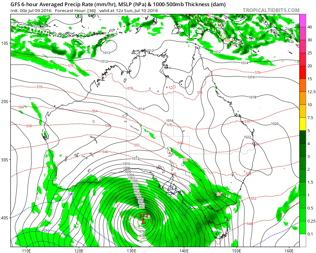 GFS for Sunday night, from Levi Cowan